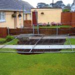 Hole in garden